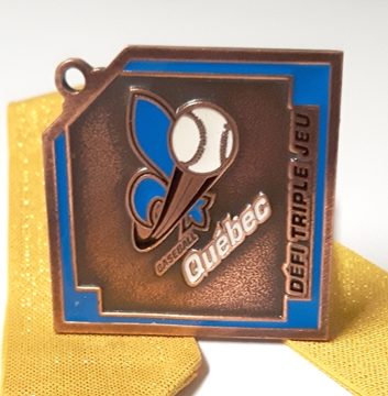 Picture of Medal - Custom-made metal - Baseball Quebec