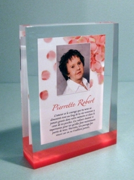 Picture of Custom-made - Funeral Plaque - Pierrette