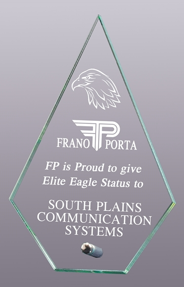 Picture of Glass plaque  - discount series