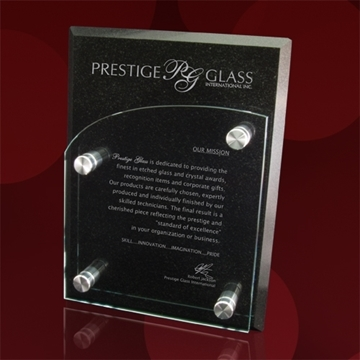 Picture of Wall plaque - Granite and Glass