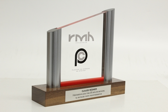 Picture of Custom-made - Acrylic and metal trophy - RMH