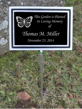 Picture of Outdoor plaque - Cast Aluminium on stake